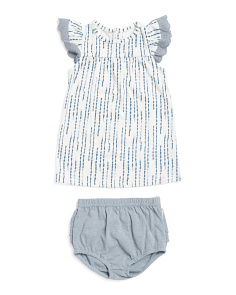 efacfe31c9585 Infant Girls Eyelet Trim Dress & Bloomers ...