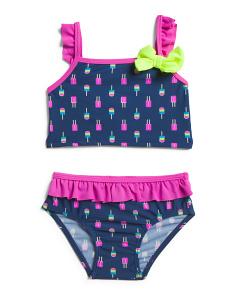 0b32990d765bf Infant Girls Neon Popsicle Ruffle Swim Set ...